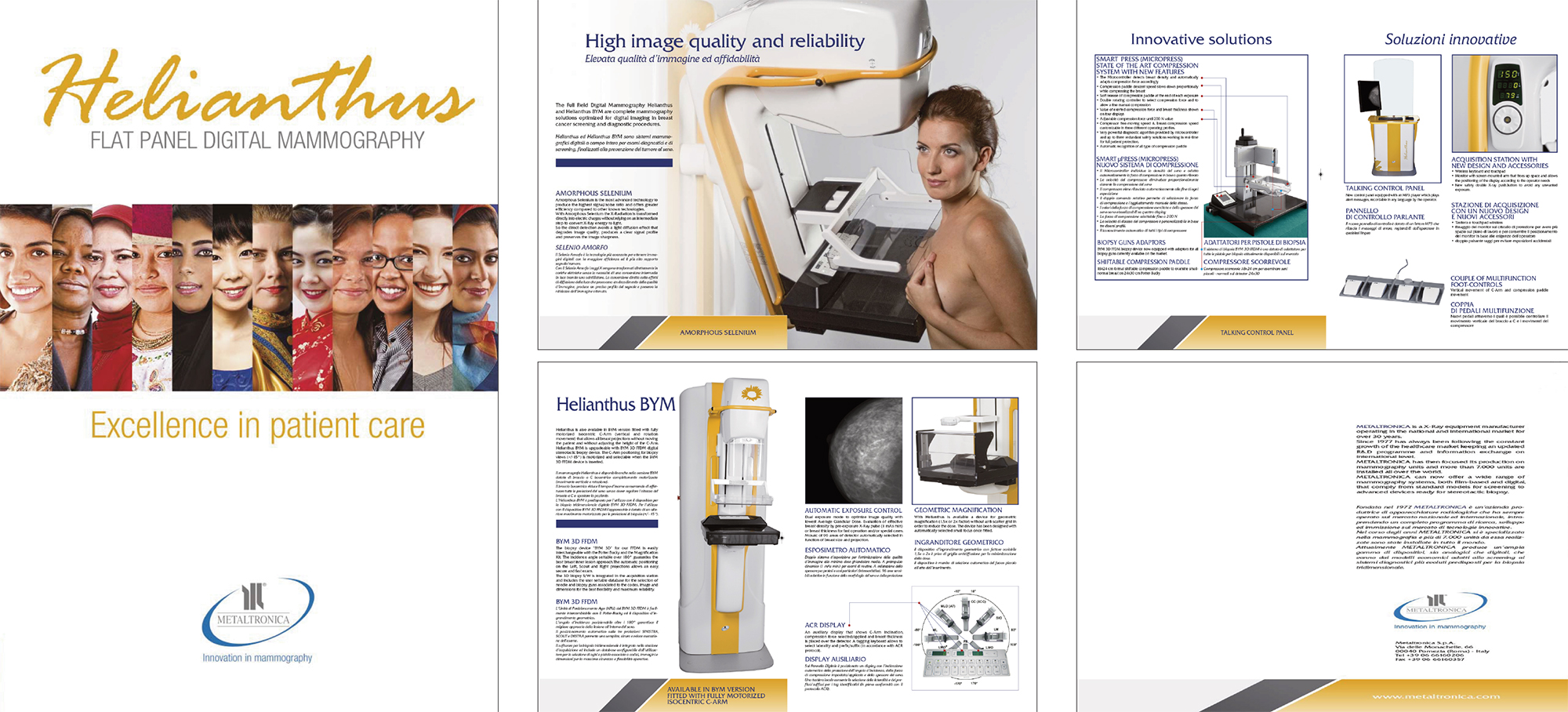 Metaltronica, mammografia, pomezia, latina, innovation in mammography, flat panel digital mammograph