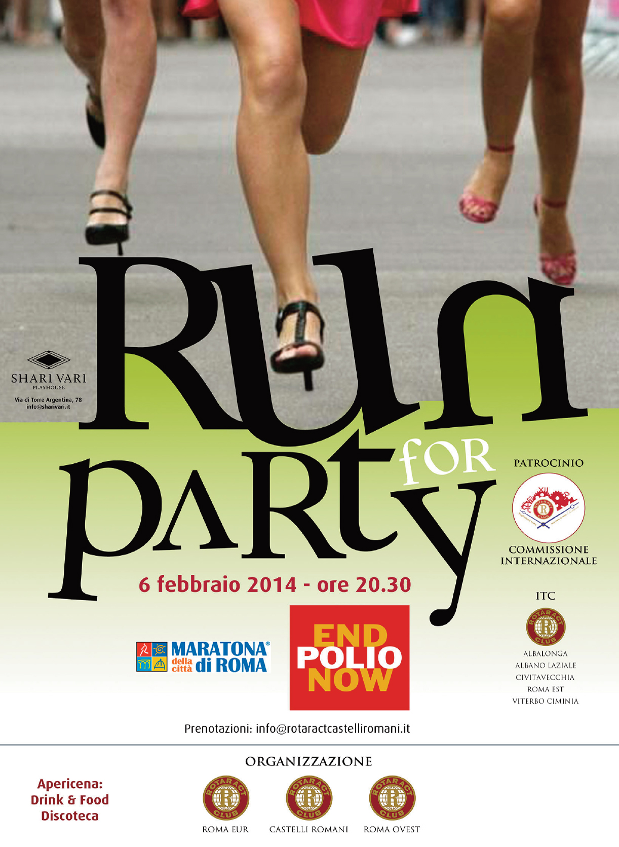Rotary, rotaract, run party, manifesto, poster